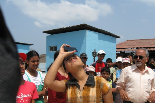 Solar Eclipse Observation at Pubic Astronomical Observatory