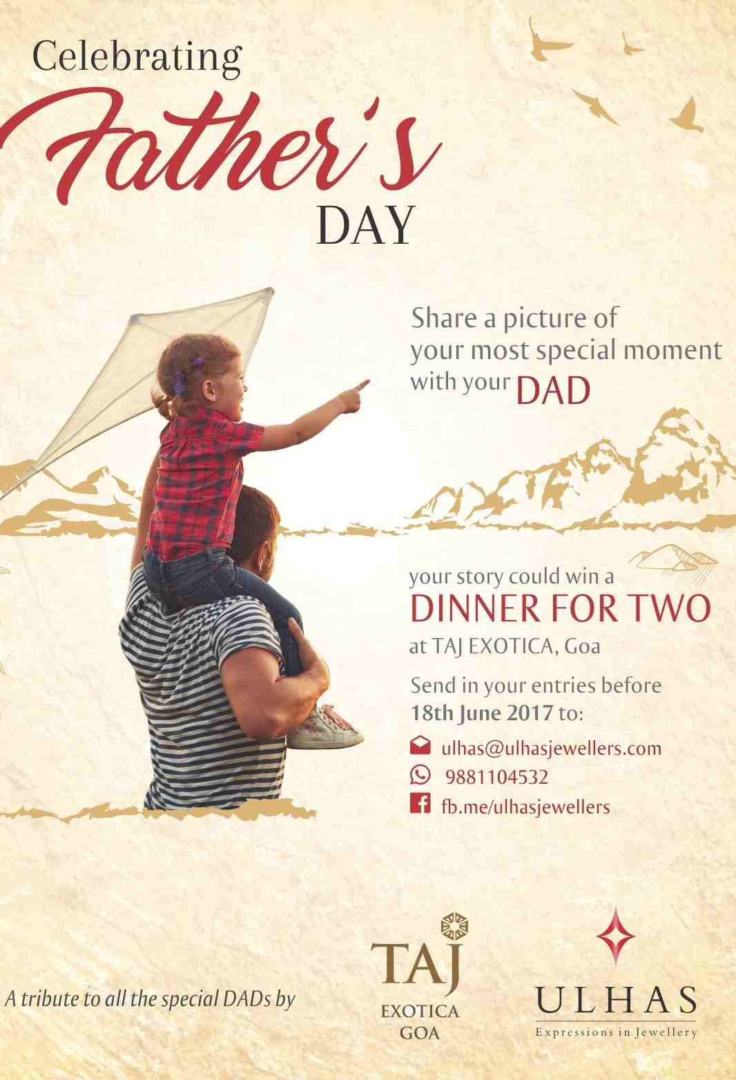 Celebrate Fathers Day with Ulhas Jewellers – Picture With ...